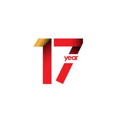 17 year anniversary template design vector