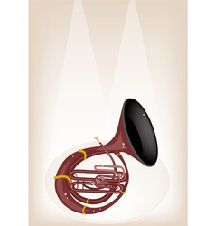 A Musical Sousaphone on Brown Stage Background vector