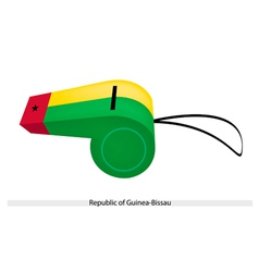 A Whistle of The Republic of Guinea Bissau vector image