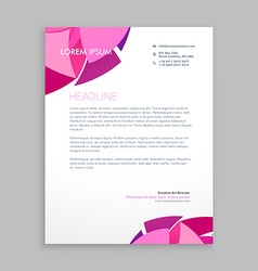 abstract business letterhead design vector image
