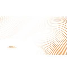 abstract orange curve flowing lines elegant vector image