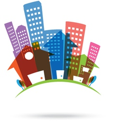 Abstract real estate Icon vector