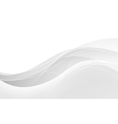 Abstract white waves - data stream concept vector image