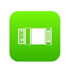 accordion icon digital green vector image
