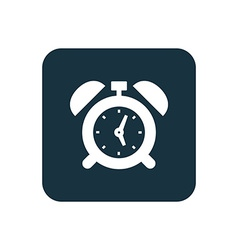 alarm clock icon Rounded squares button vector image