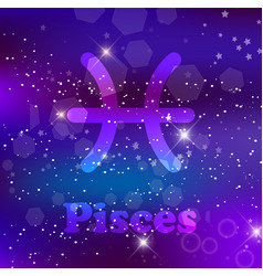 astrological symbol of sagittarius abstract shiny vector image