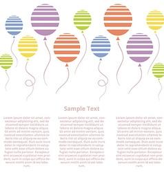 Baloons vector image