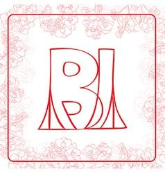BI monogram vector