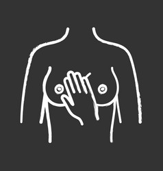 Breast palpation chalk icon vector