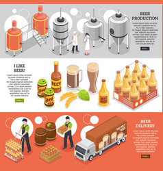 brewery isometric banners vector image