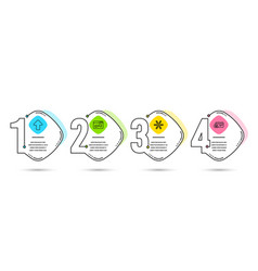 Browser window upload and snowflake icons vector