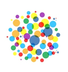 Bubble colorful frame for your design vector