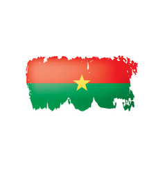 burkina faso flag on a white vector image
