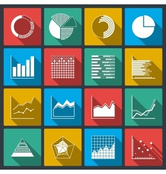 Business icons ratings graphs and charts vector
