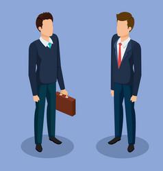 business men isometric avatars vector image