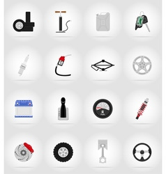 Car equipment flat icons 17 vector