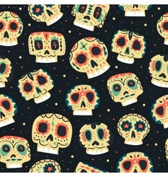 Cartoon flat dead day seamless pattern vector