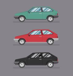 Cartoon hatchback car icon logo template vector