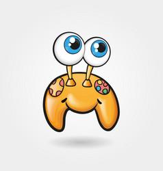 Cheerful cute gamepad funny vector