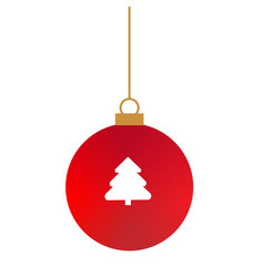 christmas ball icon on white background flat vector image