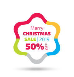 Christmas sale banner with the star shape vector