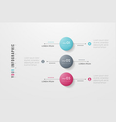 Circle infographic concept design with 3 options vector