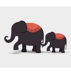circus elephants festival funfair vector image