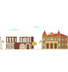 city street with shops vector image
