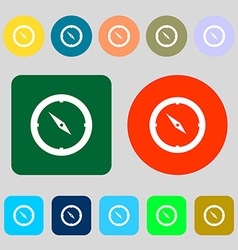 Compass sign icon Windrose navigation symbol 12 vector