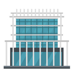 Construction of house icon flat style vector
