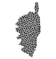 Corsica france island map mosaic of spheres vector