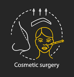 Cosmetic surgery chalk icon vector