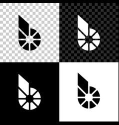 Cryptocurrency coin bitshares bts icon on black vector