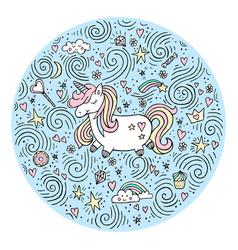 cute magical unicorn design isolated o vector image