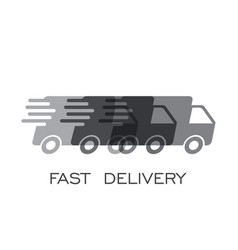 delivery truck logo fast delivery service vector image