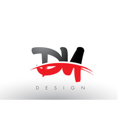 Dy d y brush logo letters with red and black vector