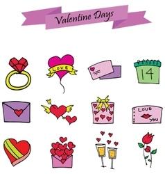 Element valentine day set various vector