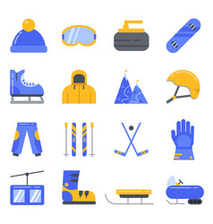 extreme winter sport ski snowboard and other vector image