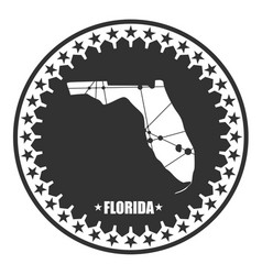 Florida state map vector