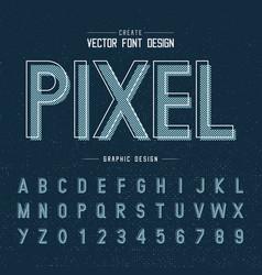 font and alphabet pixel letter design vector image