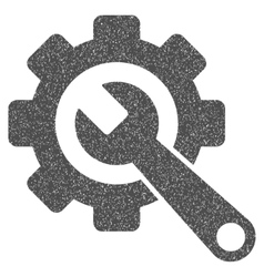 Gear And Wrench Grainy Texture Icon vector