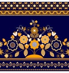Golden decorative seamless border vector
