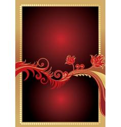 golden gift card vector image
