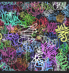 graffity wall colorful tags seamless pattern vector image