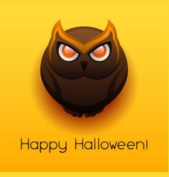 happy halloween angry owl vector image