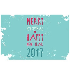 Happy new year 2017 hipster banner lettering vector