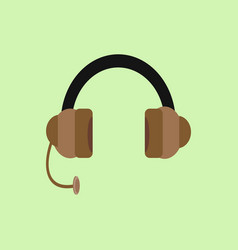headphone flat design graphic vector image