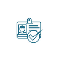 hiring of staff linear icon concept hiring of vector image
