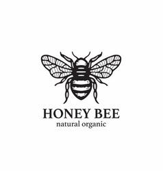 Honey bee symbol vector