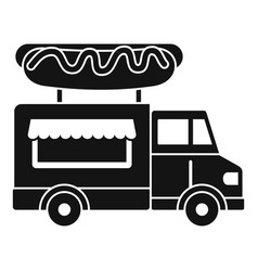 hot dog truck icon simple style vector image